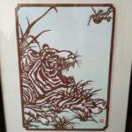 虎の切り絵
